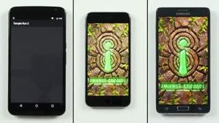 مقایسه سرعت گوشی های گلکسی نوت ۴، آیفون ۶ پلاس و نکسوس 6