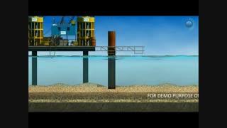 اجرای پل کابلی در دریا /Run a cable bridge in the sea