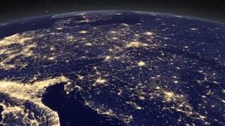 کلیپ دیدنی کره زمین در شب