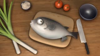 انیمیشن جالب ماهی و سرآشپز