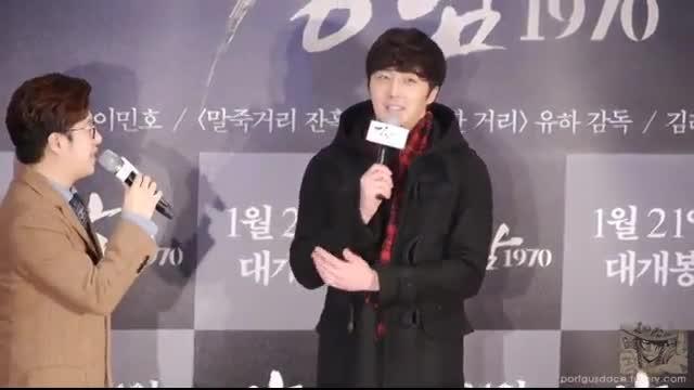 لی مین هو نماشا جانگ ایل وو در مراسم اکران فیلم کانگنام بلوز لی مین هو - نماشا