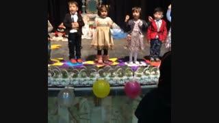 جشن نوروز 94- اجرای شعر ترکی توسط کودکان 3 ساله مهد