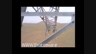 سختی کار دکل بندان خطوط انتقال برق