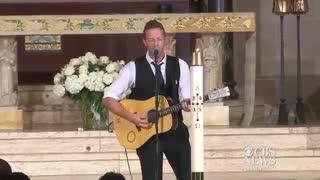 Chris Martin Perform for Beau Biden's Funera