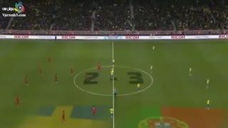 بازی زیبای سوئد و پرتغال با هتریک سلطان  رونالدو