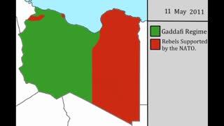 نقشه جنگ داخلی لیبی