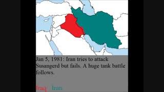 نقشه ی جنگ ایران و عراق