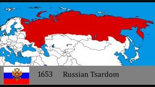 نقشه ی  تاریخ کشوری روسیه ( مرزبندی )