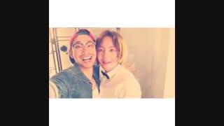 جانگ کیون سوک به همراه دوستش