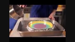 چیز کیک رنگین کمان