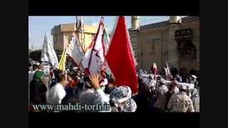 تشییع پیکر شهدای گمنام در شهر بستان