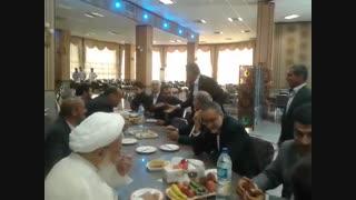 حضورحضرت آیت الله ناصری امام جمعه محترم یزد در مراسم جشن ازدواج آقای محمدرضا علیپور
