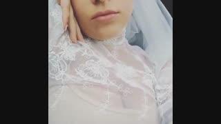 لیدی گاگا با لباس عروس