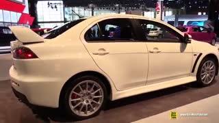 2015 Mitsubishi Lancer Evolution GSR در نمایشگاه اتومبیل شیکاگو واقعا حرف نداره!