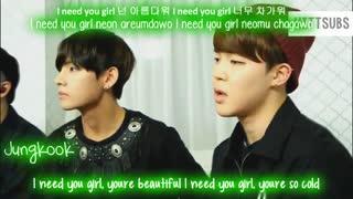 BTS I Need U Live _Color Coded Hangul-Rom-Eng Lyrics