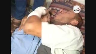 وداع تلخ پدر فلسطینی با فرزند شهیدش (یحیی حسان)