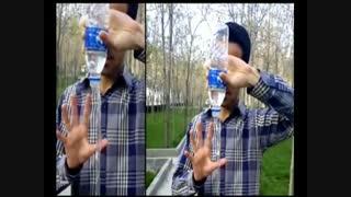 نمایش عجیب معلق کردن آب روی هوا