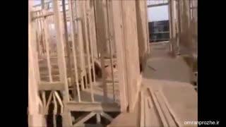 فیلم مراحل ساخت ساختمان ۲۱ - قاب طبقه دوم-عمران پروژه