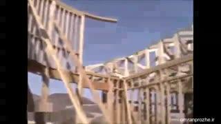 فیلم مراحل ساخت ساختمان ۲۲ - نصب خرپا سقف-عمران پروژه
