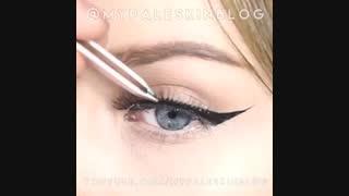 آموزش آرایش ، خط چشم