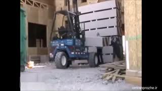 فیلم مراحل ساخت ساختمان ۲۷ - نصب دیوارها-عمران پروژه