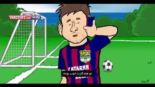 تماس تلفنی رونالدو و مسی (انیمیشن)