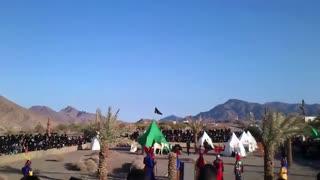 بازسازی واقعه کربلا در روستای سرابه