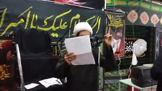 الخطیب والرادود شیخ نصرالله الصیمری انهض انهض یا علی لیش امشی ابلاولی محرم 1437