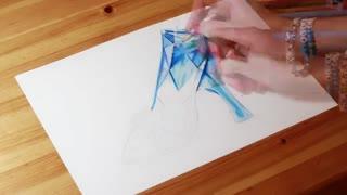 نقاشی بسیاررررر حرفه ای از کفش بلوری سیندرلا