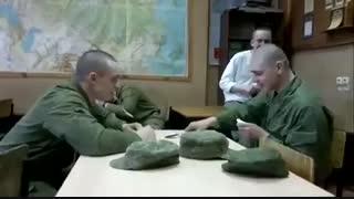 """مسابقه سرباز ها """"ببینین فقط و بخندین """""""