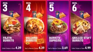 Taco bell: Standard Digital Menu Board, basic Video