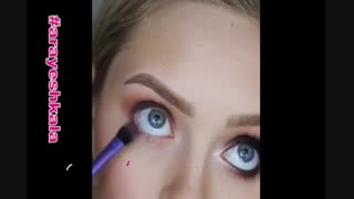 آموزش آرایش چشم و دور چشم -ak