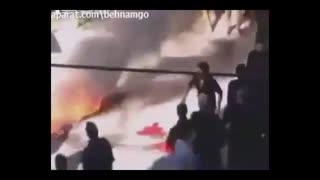 سوختن دلخراش پسربچه در آتش.محرم.!