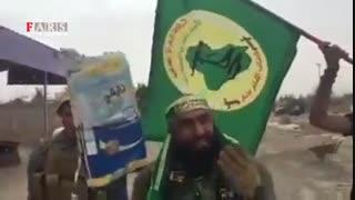 رونمایی از پرچم جدید داعش توسط ابوعزرائیل