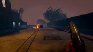شبی بارانی در GTA V با حضور مد گرافیکی The Pinnacle of V