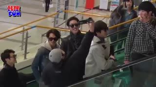 CNBLUE در فرودگاه برای کنسرت FNC Kingdom
