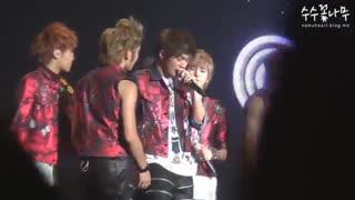 INFINITE - Kim Myung Soo (L) cried during Second Invasion concert - گریه کردن کیم میونگ سو (ال) در کنسرت اینفینیت