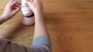 ساخت آدم برفی با جوراب