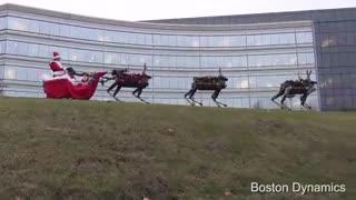 کالسکه بابانوئل - این بار بجای گوزن ها ، ربات ها کالسکه رو می کشند