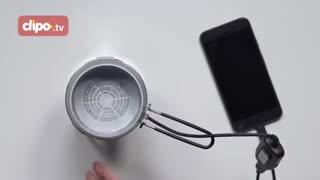 شارژ شدن گوشی با آتش!