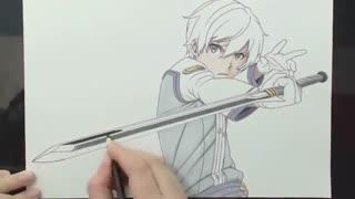 نقاشی از کیریتو انیمه هنر شمشیرزنی آنلاین oridinal scale