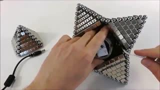 ساختن لامپ led با آهنربا و آهنربا ستاره ای