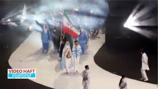رژه ورزشکاران ایران در باکو