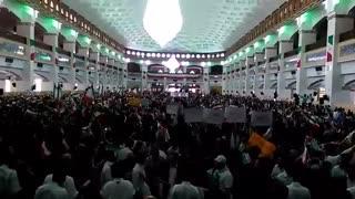سیل جمعیت در مصلای تبریز یک ساعت مانده به حضور و سخنرانی حجتالاسلام رئیسی
