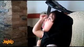 دختر شیرین زبان سرباز 3 ساله رهبر