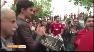 جشن خیابانی مردم رشت برای صعود سپیدرود (نود ۲۵ اردیبهشت)