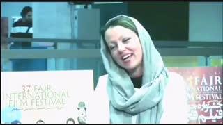 مصاحبه با ستاره طباطبایى بازیگر سینما  پخش زنده از کأخ هنرمندان در سى هفتمین جشنواره جهانى فیلم فجر