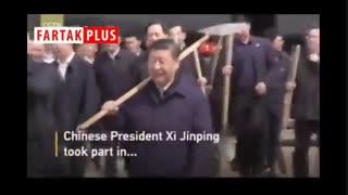 عجیبترین مراسم درختکاری سال با حضور رئیس جمهور چین!