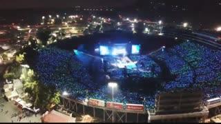 کنسرت 90000 نفری BTS در استادیو Rose Bowl لس آنجلس از نمای بالا(concert/speak yourself/BTS)