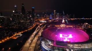 نمایی از کنسرت 61500 نفری BTS در استادیو Soldier Field شیکاگو(concert/speak yourself/BTS)